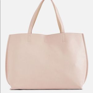 JustFab Ace Reversible Tote in Blush/Natural